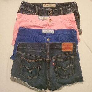 LOT of shorts Levi's, Hollister, Abercrombie